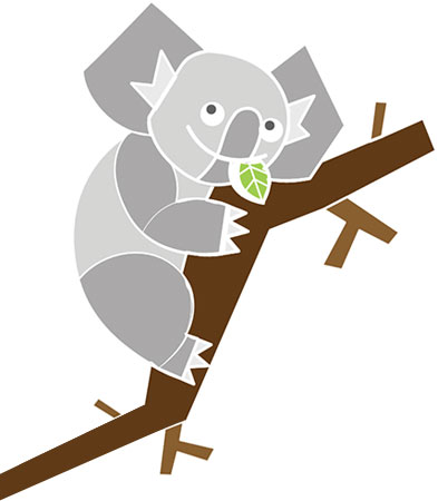 image of a Koala on a branch
