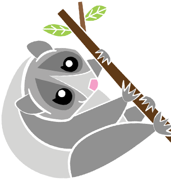 Image or a loris on a branch